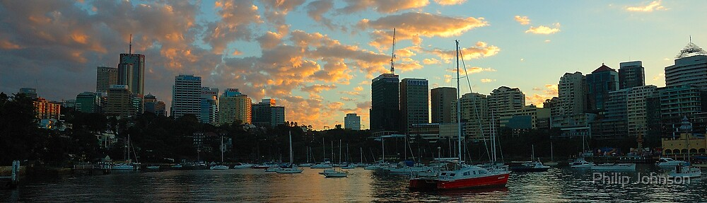 Dawn Light - Sydney Harbour, Sydney Australia by Philip Johnson