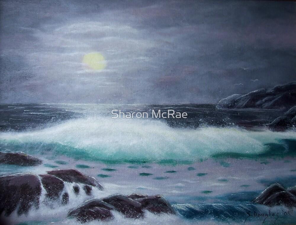 Moonlit Ocean-Painting by SharonD