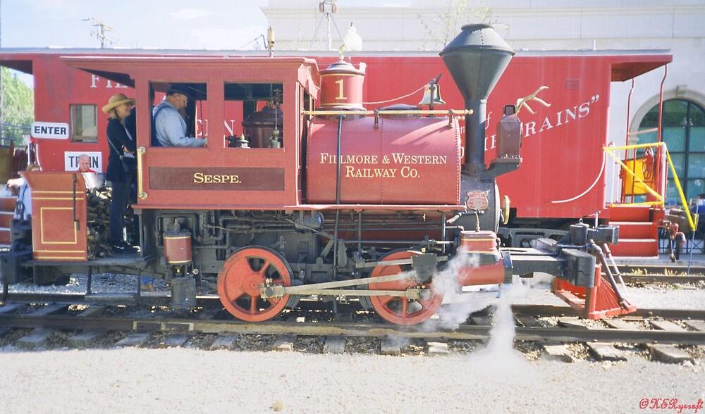 Sespe Train by Kathryn Eve Rycroft