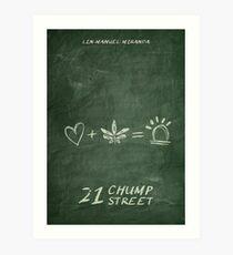 21 Chump Street - Minimalistic Art Print