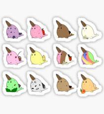 ice cream narwhals Sticker