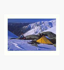Albina campsite Art Print