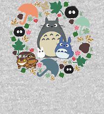 My Neighbor Totoro Wreath - Anime, Catbus, Soot Sprite, Blue Totoro, White Totoro, Mustard, Ochre, Umbrella, Manga, Hayao Miyazaki, Studio Ghibl Kids Pullover Hoodie