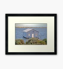 Crawley Boatshed Framed Print