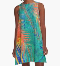 Vibrant Jungle for Frida A-Line Dress