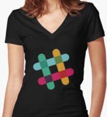 Slack logo Women's Fitted V-Neck T-Shirt