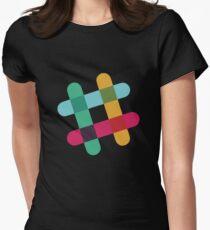 Slack Logo Womens Fitted T-Shirt