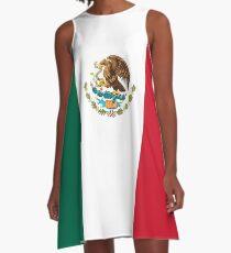 Mexican Flag A-Line Dress