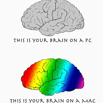 Brain on a Mac by curlybit