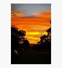 Urban Sun Rise 1 Photographic Print