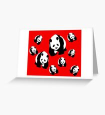 Panda Pattern Dress, Skirt, Cell Phone Skin, Stickers Greeting Card