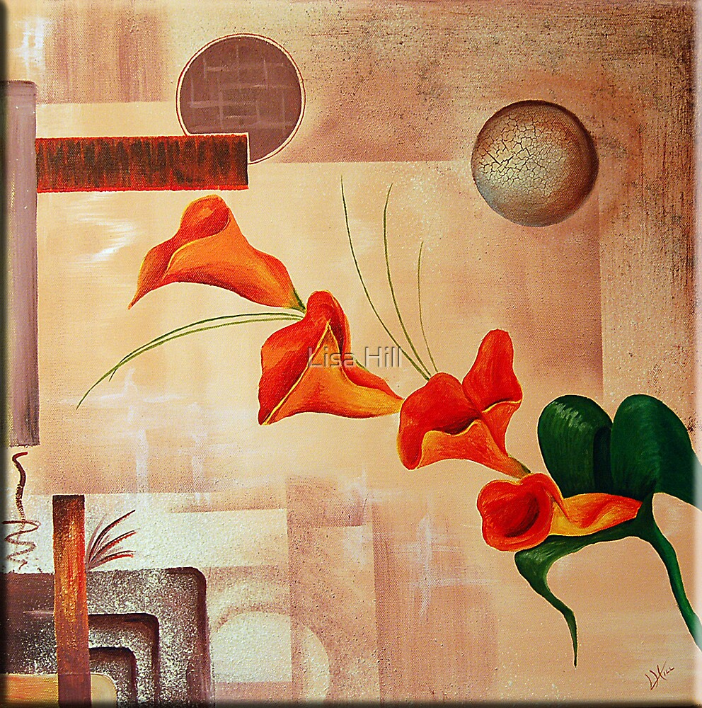 Orange Lily by Lisa Hill
