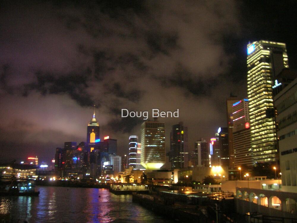 Hong Kong at Night by Doug Bend