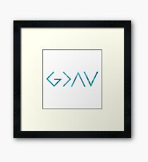 God Is Greater Than the Highs and Lows Framed Print