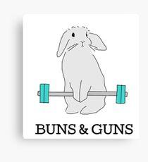 BUNS & GUNS Canvas Print