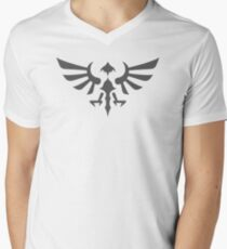 Hylian Crest (gray) Men's V-Neck T-Shirt