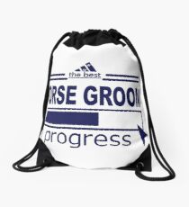 HORSE GROOM - IN PROGRESS Drawstring Bag