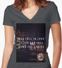 Underwater Skeleton Tea Party Stairs Women's Fitted V-Neck T-Shirt