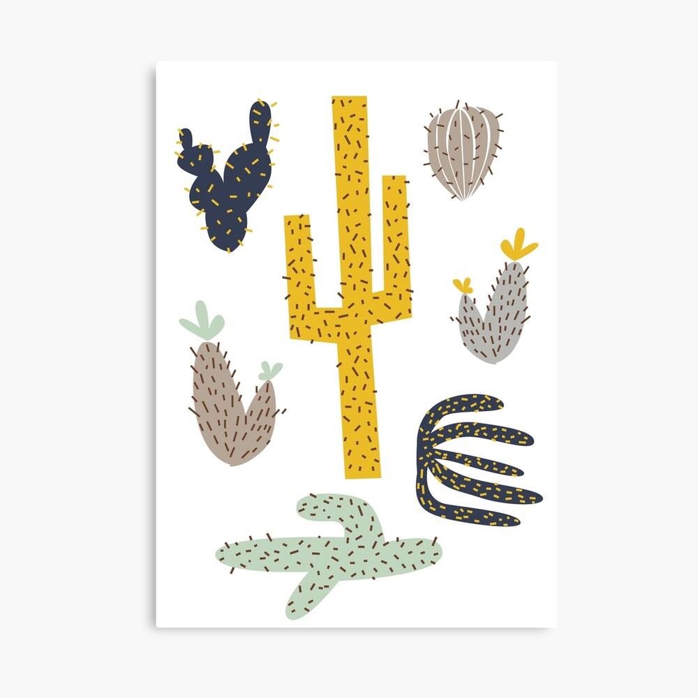 Kaktus - Senf Marine Leinwanddruck