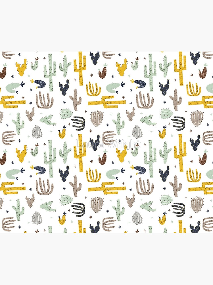 cactus - mustard navy by laurathedrawer