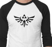 The Legend of Zelda Royal Crest (black) Men's Baseball ¾ T-Shirt