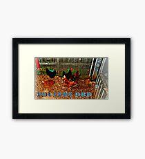 POULTRY ORB Framed Print