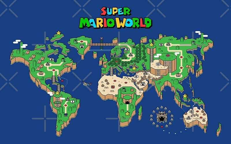 SMW Super Mario World Map | Art Print