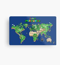 SMW Super Mario World Map Metal Print