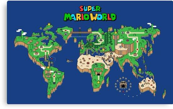 SMW Super Mario World Map