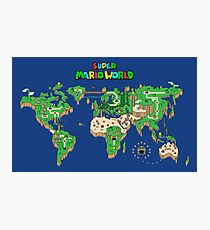 SMW Super Mario World Map Photographic Print