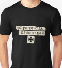 49% Motherfucker - 51% Son of a Bitch Iron cross Unisex T-Shirt