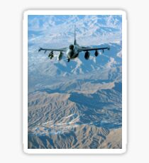 A U.S. Air Force F-16C Fighting Falcon in flight over Afghanistan. Sticker