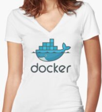 Docker Women's Fitted V-Neck T-Shirt
