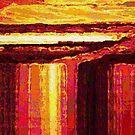 Waterfall at Sunset by Dana Roper