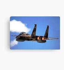 An F-15 Eagle in flight. Canvas Print