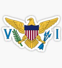 Flag of the Virgin Islands Sticker