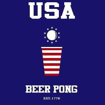 USA Beer Pong by edwardfraser
