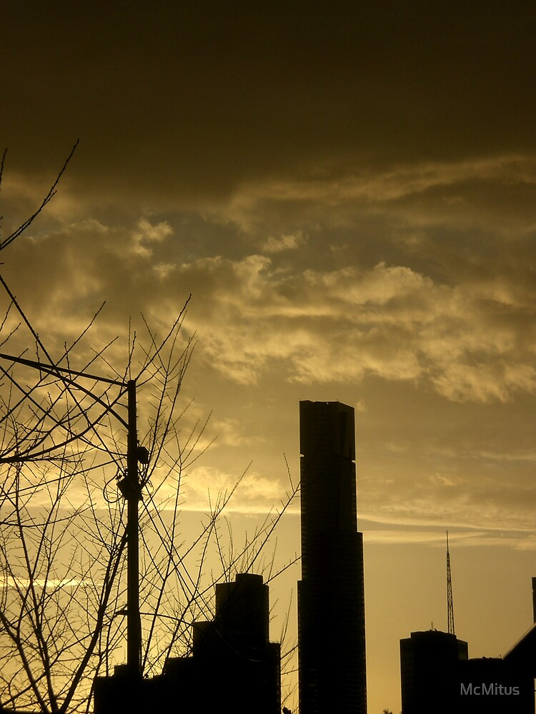 City and sunlight by McMitus