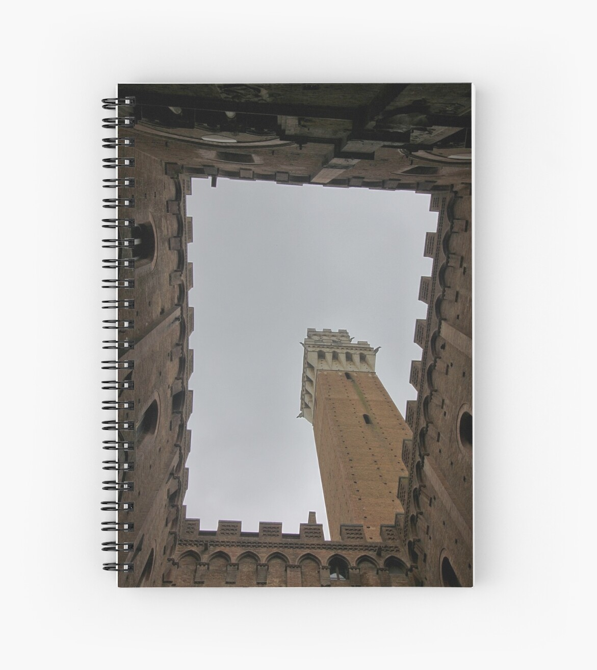 Courtyard below tower in Siena, Italy by renprovo