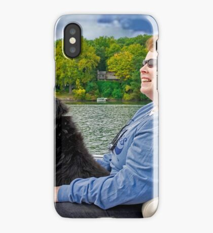 My Dog Coty Driving the Boat iPhone Case
