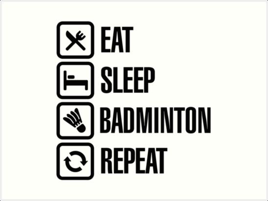 Lined Notebook Eat Sleep Play Badminton