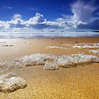 Sharp Bubbles - Freshwater West by Mark Haynes Photography