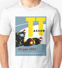 T. T. ASSEN: Vintage Motorcycle Racing Print. Unisex T-Shirt
