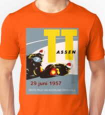 T. T. ASSEN: Vintage Motorcycle Racing Print. T-Shirt