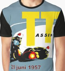 T. T. ASSEN: Vintage Motorcycle Racing Print. Graphic T-Shirt