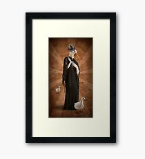 The woman who thought she could be queen of the geese Framed Print