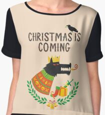 Christmas is coming Women's Chiffon Top