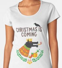 Christmas is coming Women's Premium T-Shirt