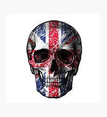 UK flag skull Photographic Print