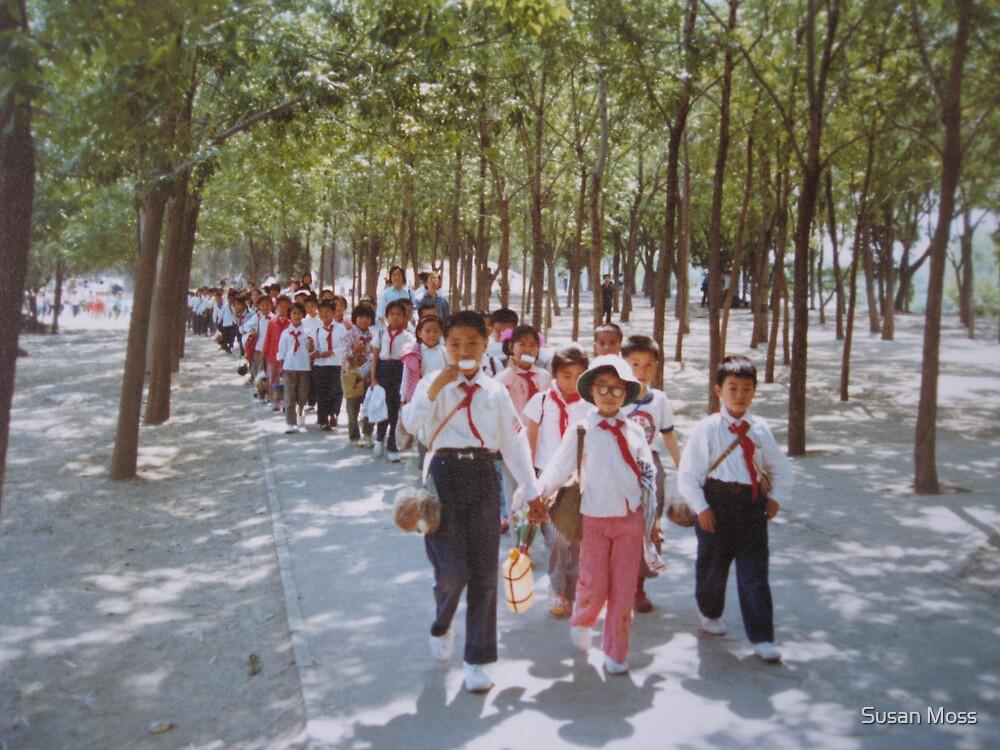School children  Tianjin May 1981 by Susan Moss